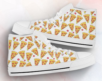 Women/'s Pepperoni Pizza Sneakers Freaky Shoes Humor Costume Pizza Gifts Pizza Lover Party Birthday Shoes with Pizza Gift