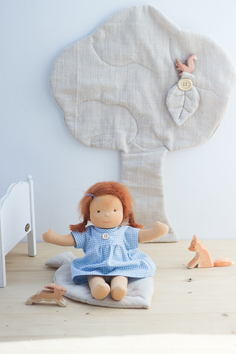 Fabric doll Ava 32 cm/manufacture according to the type of image 0
