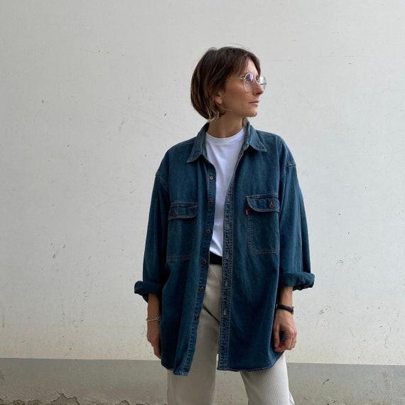 XL LEVIS denim shirt Levis vintage 80s jeans Levis