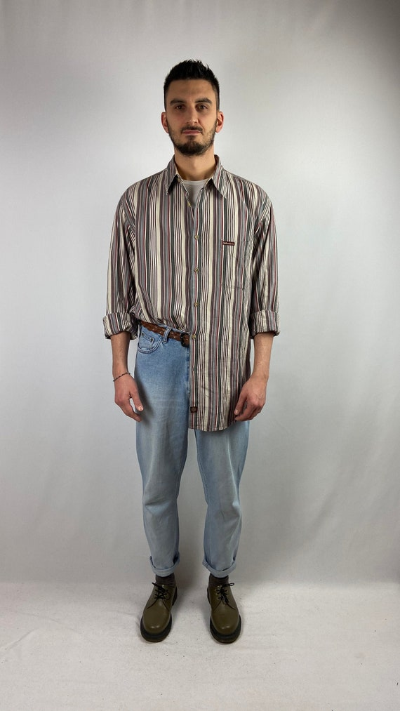 Vintage Striped Marlboro 90s shirt/vintage 90s str