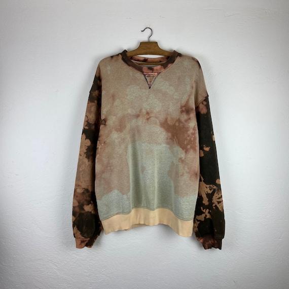 L - CHAMPION Tie Dye vintage sweatshirt washing bl