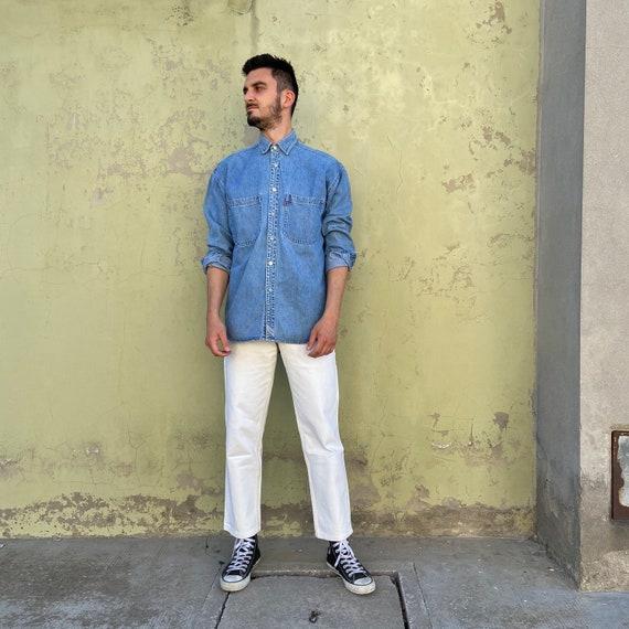LEVIS DENIM Vintage 90s shirt, 90s vintage Levis d