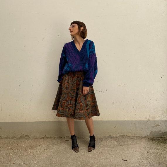 Brocade skirt vintage skirt 50s Vintage skirt in J