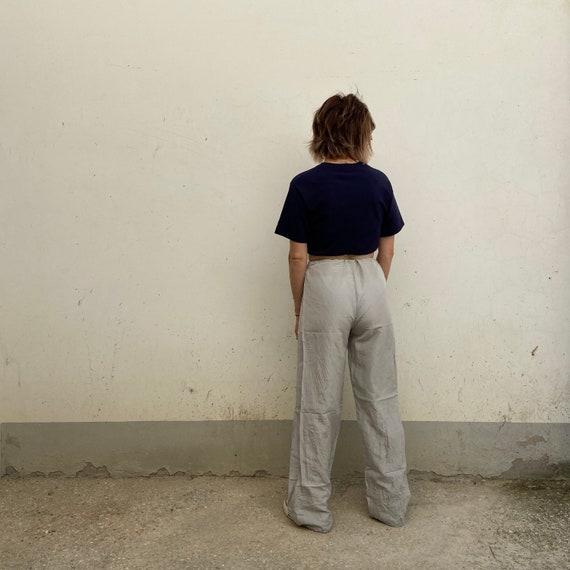 M -ASPESI Silk trousers, vintage 90s trousers wide