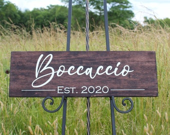 Last Name Established Sign,Family Name Sign,Housewarming Gift,Bridal Shower Gift,Wedding Gift,Wood Family Sign,Established Sign,Name Sign