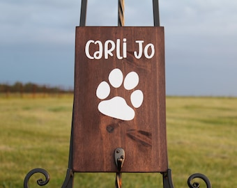 Personalized Dog Leash Holder for wall, Custom Leash Holder, Wooden Leash Holder, Dog Holder With Name, Custom Dog Leash Gift, Dog Lovers
