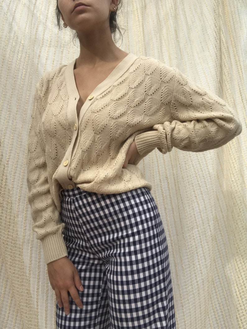 Cardigan vintage beige woman