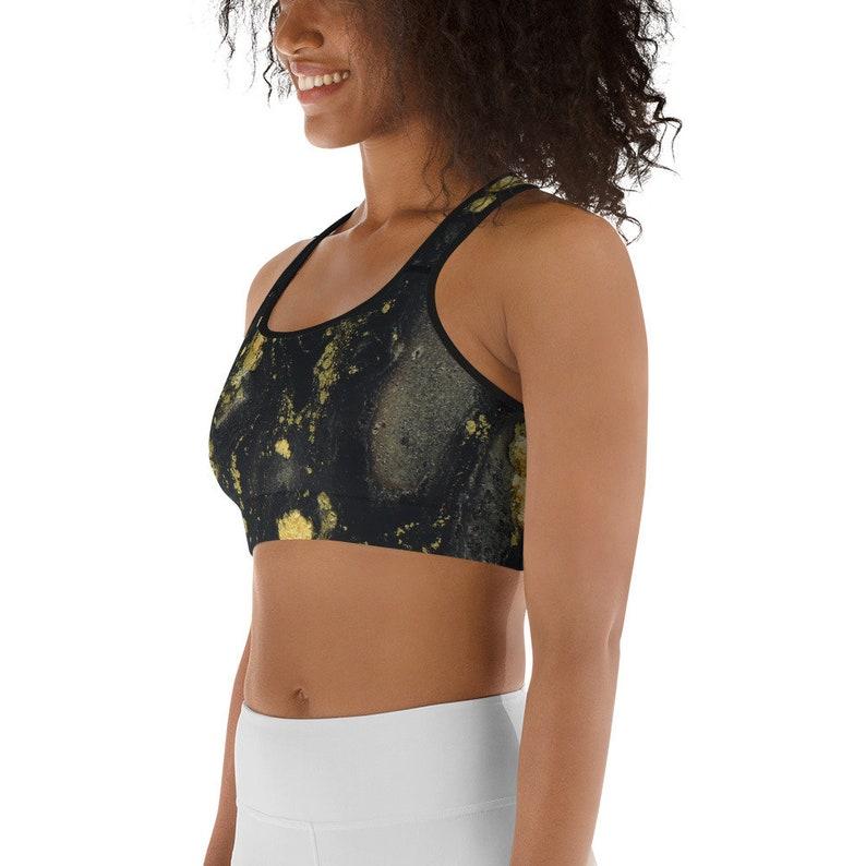 Gold flake Sports bra