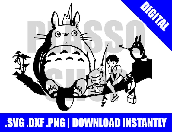 Download Anime Scene Totoro SVG / DXF / PNG File Cutting File for ...