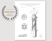 1916 Barber-Pole Patent DIGITAL DOWNLOAD Barbershop art, Antique barber 39 s pole, Laundry room decor, Barbershop decor, Bathroom decor