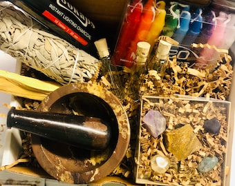 Beginner Witch Kit, Witch Tools Set, Herb Set
