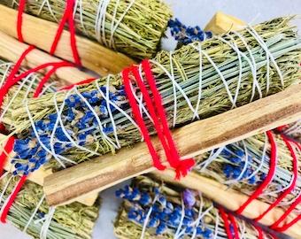 Sagebrush, Lavender Burn Wand + Palo Santo Stick