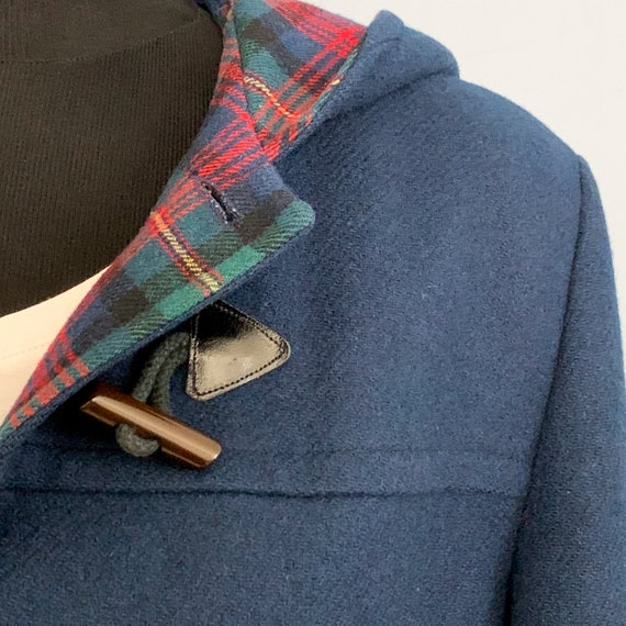 Vintage 60s Pendleton Blue Duffle Coat - 1960s Qu… - image 2