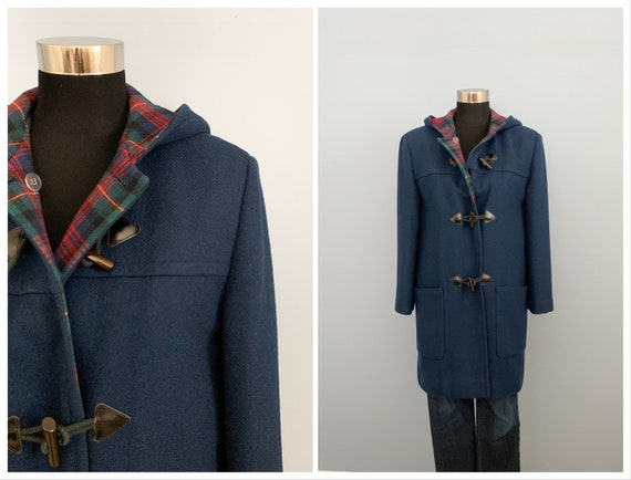 Vintage 60s Pendleton Blue Duffle Coat - 1960s Qu… - image 1