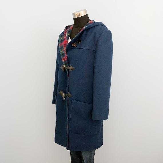 Vintage 60s Pendleton Blue Duffle Coat - 1960s Qu… - image 3