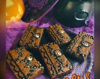 Hocus Pocus Spellbook Brownies