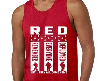 Red Box Logo Norfolk City Pride Mens Graphic Tank Top