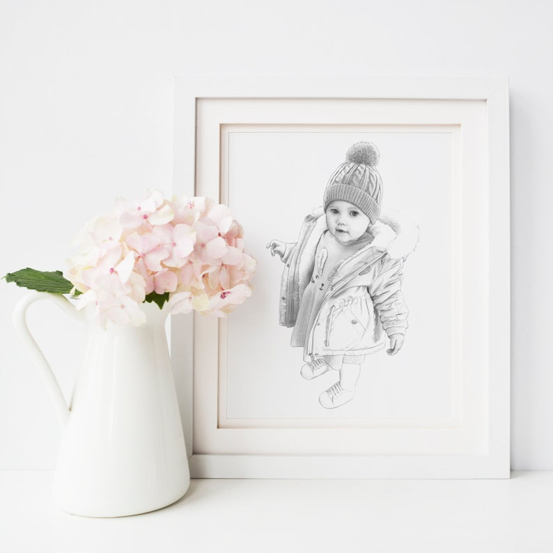 Bespoke Portrait A5 Drawing Commission Christmas Present Hand Drawn Pencil /& Digital Portraits Birthday Gift Bespoke Portrait From Photo