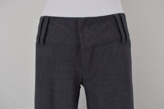 Low Waist Gray Gaucho Pants - image 5
