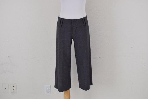 Low Waist Gray Gaucho Pants - image 4