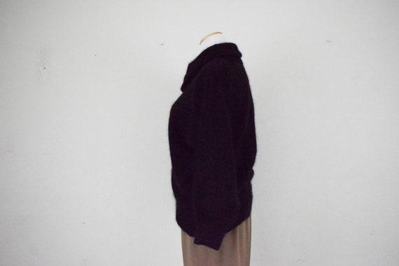 Cowl Neck Angora-Acrylic Sweater - image 5