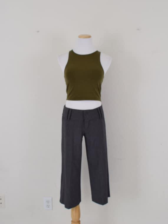 Low Waist Gray Gaucho Pants - image 2
