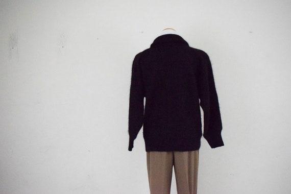 Cowl Neck Angora-Acrylic Sweater - image 4