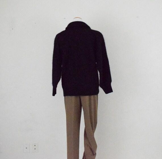 Cowl Neck Angora-Acrylic Sweater - image 3