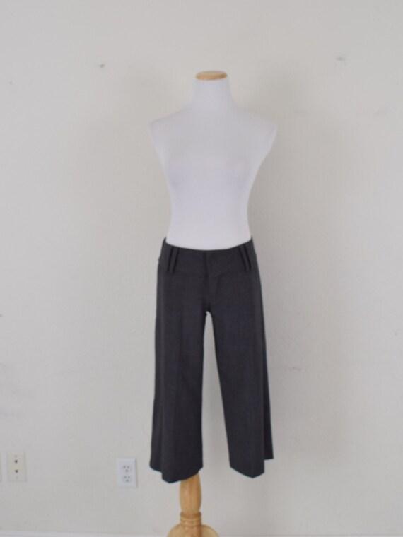 Low Waist Gray Gaucho Pants - image 3