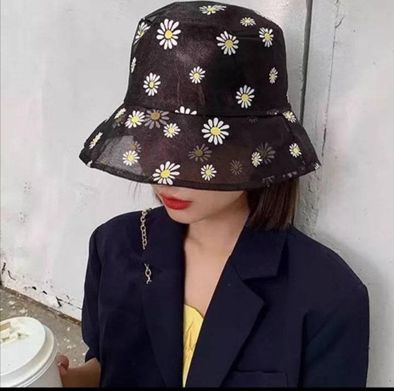 Daisy Bucket Hat, Daisy Embroidered Buckets Hat