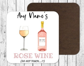 Personalised Bordeaux Red Wine Coaster Mothers Day Fathers Day Personalised Gift Idea Cocktail Mat