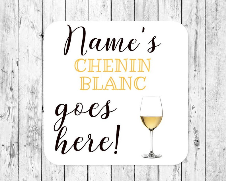 Personalised Chenin Blanc White Wine Coaster Mothers Day Fathers Day Personalised Gift Idea Cocktail Mat