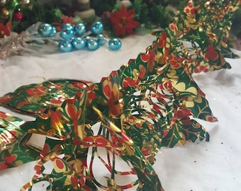 9 FT SILVER BEAD 3 STRAND TWISTED GARLAND CHRISTMAS DECORATION HOLIDAY