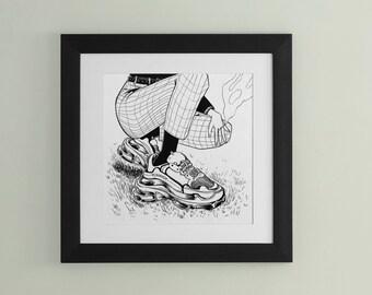 "Inktober 2020 ""Chunky"" Print"