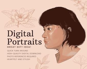 CUSTOM Digital Photo Portraits (Quick and Stylish!)