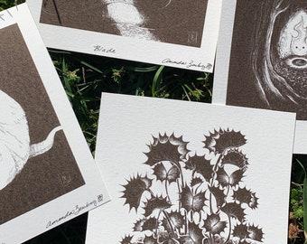 LIMITED Inktober 2020 Watercolor Prints