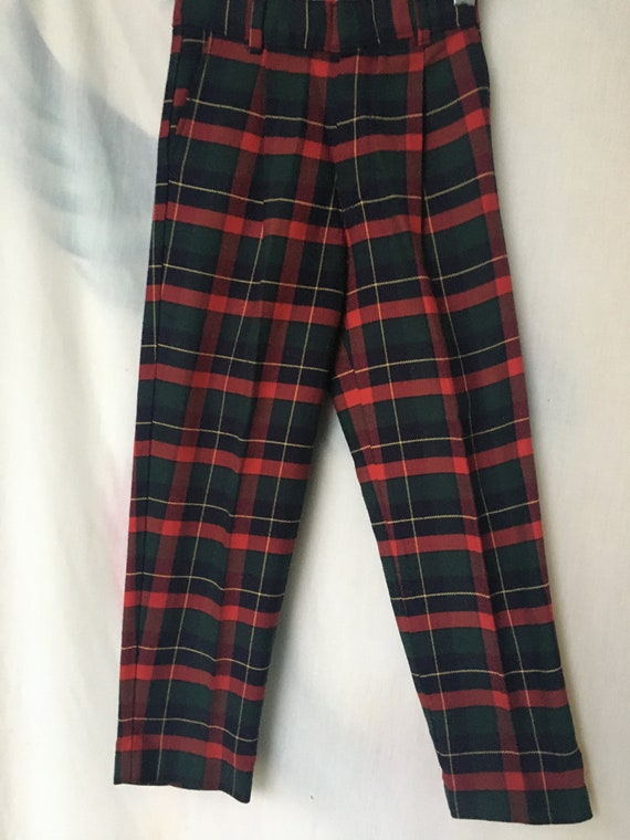 Vintage 80's/90's Boys Red,Green,Navy,Yellow Plai… - image 1