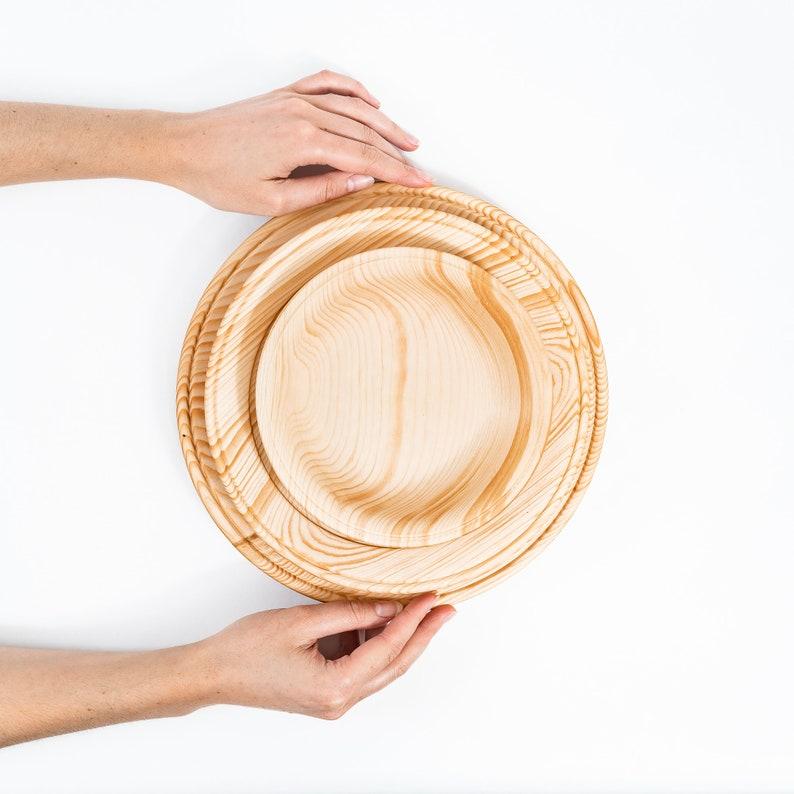Ensemble de plaques en bois en bois en bois de cèdre 3 tartes