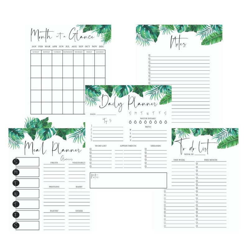 Plan Your Week Package   PRINTABLE To Do List Daily Planner image 0