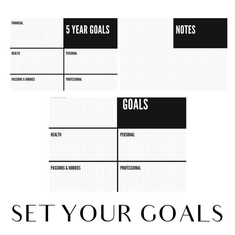 Goals Template  PRINTABLE goal planning kit goal worksheet image 0