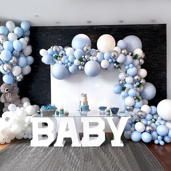 Weihnachten Baby Shower Frozen Birthday Party Dekorationen Urlaub Schneeflocke Luftballons Garland Arch Kit Blau /& Wei/ß /& Silber/& violett 99er Pack Schneeflocke Ballons f/ür Winter Wonderland