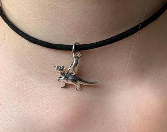 stay safe dinosaur jewelry jewellery Dinosaur bracelet dinosaur gift Dino alternative Dino fan dinosaurs goth grunge token gift