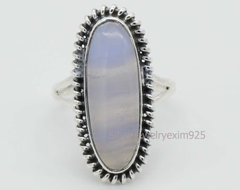 huge ring big gemstone ring natural large stone rings for women cocktail ring Agate ring sterling silver crazy lace agate ring