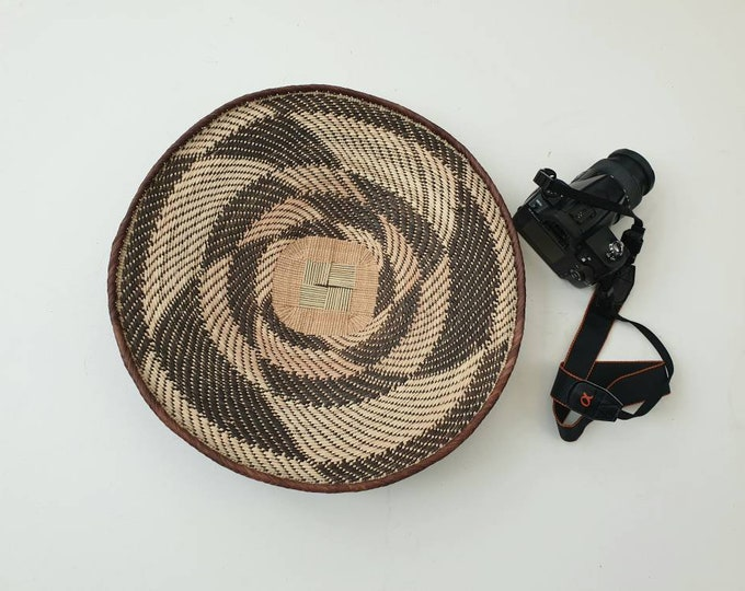 Woven brown binga basket/african basket/Wall art basket/handmade basket