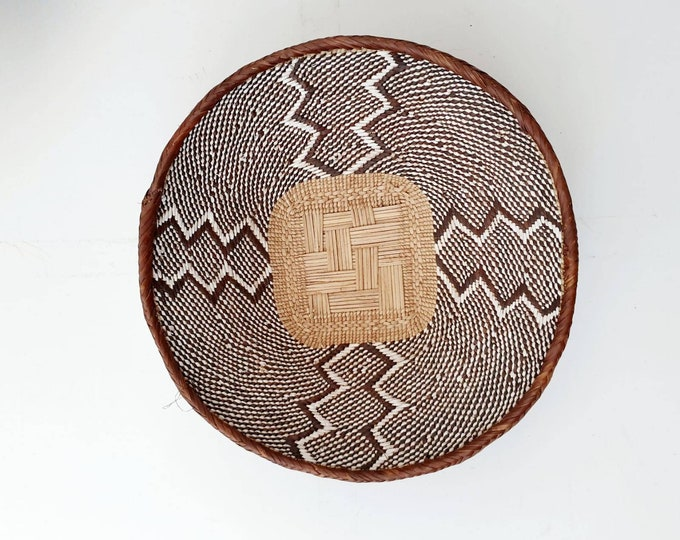Handwoven African Brown Binga Basket