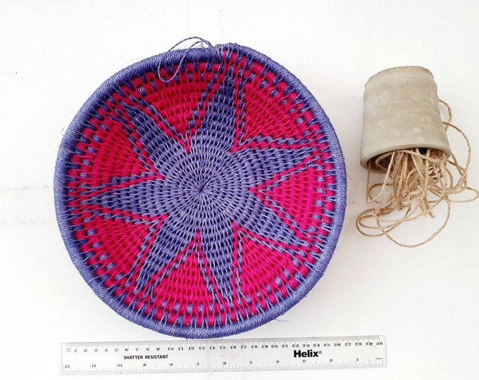 Hand woven sisal basket/african basket/Wall art basket/handmade basket/decorative basket