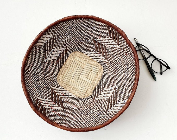 Woven brown binga bowl/african basket/Wall art basket/handmade basket