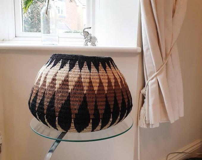 Handwoven african gourd, gourd/african basket/african basket/handmade basket/woven basket/home accessory