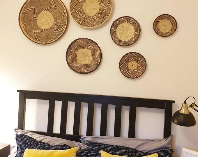 Hand woven Binga baskets/african basket/Wall art basket/handmade basket/Ilala basket/set of 6 Binga Baskets