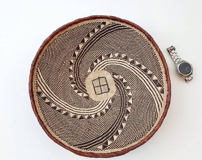 Woven brown binga basket/african basket/Wall art basket/handmade basket